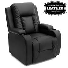 White Leather Recliner Chair Oscar Leather Recliner W Drink Holders Armchair Sofa Chair