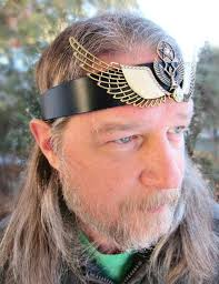 leather headband goddess headpiece ritual crown leather headband