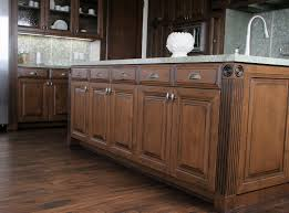 Distressed Kitchen Island White Kitchen Cabinets Hardwood Floors Granite Lavish Home Design
