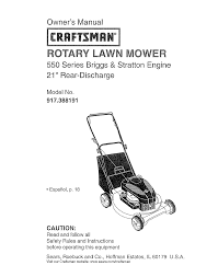 craftsman lawn mower 917 388191 user guide manualsonline com
