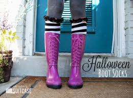 knee high halloween socks diy boot socks from old sweaters my sister u0027s suitcase packed