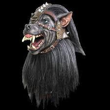 Werewolf Halloween Costume Warrior Wolf Werewolf Evil Dog Hell Hound Black Fanged Halloween
