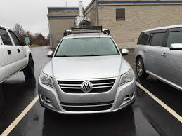 tiguan volkswagen lights vwvortex com roof rack fairings light bars