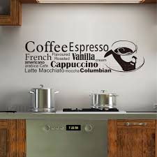 vinyl mural cuisine stickers cuisine coffee cup vinyl wall sticker decals mural