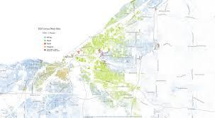 University Of Akron Map Map Of Cleveland U0027s Diversity Based On 2010 Census Cleveland