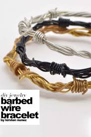 metal rope bracelet images Diy barbed wire bracelet outi les pyy outi les pyy jpg