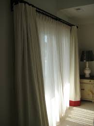 Curtains And Sheers Curtains In Ivory Linen With Coral Hem And Sheers Design Folly
