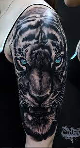 blue eyed tiger tattoo inkstylemag