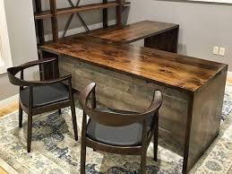 rustic l shaped desk wood l shaped desk business grain designs onsingularity com