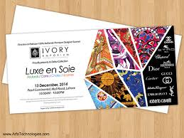 invitation card design template for event ivory emporium fashion scarf event invitation card design jp and