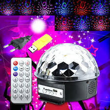 online buy wholesale halloween led light from china halloween led 18w led rgb crystal magic ball disco party effect digital stage