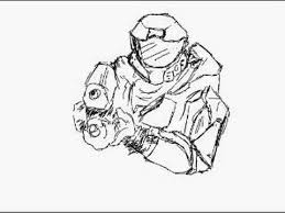 master chief sketch youtube