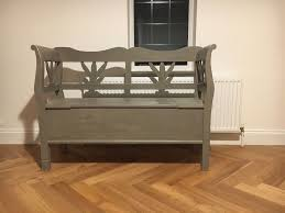 french style shabby chic bench with storage w 1220mm d 405mm h