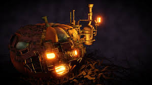 steampunk halloween pumpkin by ristridyn on deviantart