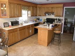 tiled floors with light oak cabinets solid oak cabinets kitchen