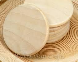 wood disk wood circles etsy