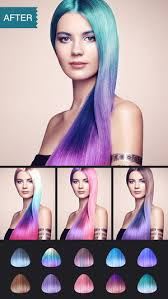 see yourself in different hair color hair color dye switch hairstyles wig photo makeup on the app store