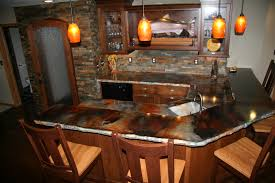modern kitchen concrete countertops bathroom pendant lighting with eco stone countertops and wooden