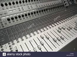 Studio Console Desk by Electronic Sound Audio Mixing Desk Console In Recording Studio