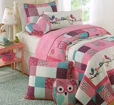 Purple Toddler Bedding Set Toddler Bedding Set Owl Birds 3pc Quilt Set Turquoise Purple Pink