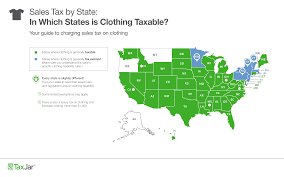 Where Is Ohio On The Map by Which States Require Sales Tax On Clothing