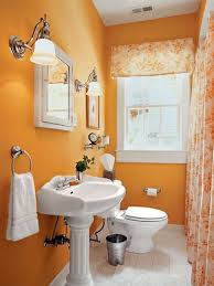 perfect sumptuous decorating ideas for small affordable orange small bathoom decoration white ceramic sink mirror framed top stainless steel ring towel