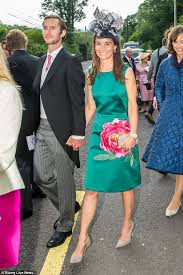 pippa middleton wears emerald green for irish wedding daily mail