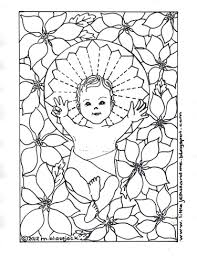 jesus coloring pages little jesus and me baby jesus coloring