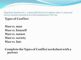 objectives students will 1 practice crs cou irregular verbs 2