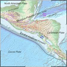 Map Of North America And Central America by New Gem Dataset Of Active Faults In The Caribbean And Central