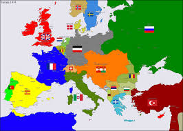 Map Of Germany And Austria by Europe 1914 By Hillfighter On Deviantart