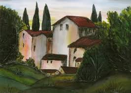free images home village color tuscany art sketch drawing