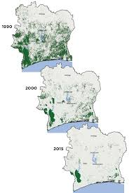 Ivory Coast Map Sciency Thoughts Unsustainable Chocolate Production Linked To