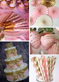 pink and gold baby shower ideas inspirations pink and gold baby shower sweet pea paperie