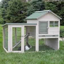 Outdoor Rabbit Hutch Plans Boomer U0026amp George White Wash Rabbit Hutch Walmart Com