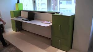 cabrio in desk resource furniture wall bed systems youtube