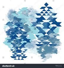 ethnic pattern tshirt design on watercolor stock illustration