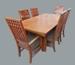 uhuru furniture u0026 collectibles mission style dining table 6