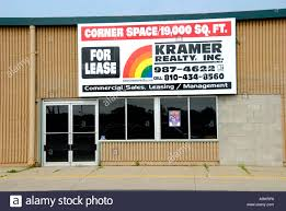 business building vacant for lease or rent through a commercial