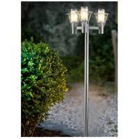 Outdoor Post Light Eglo 88118a Belfast 3 Light 87 Inch Stainless Steel Outdoor Post Light