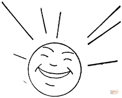 Sun Is Happy Coloring Page Free Printable Coloring Pages Happy Coloring Pages