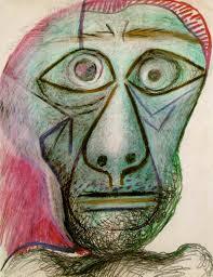 pablo picasso self portrait facing 1972
