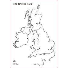 British Isles Map Buy British Isles Whiteboard Set A4 Tts