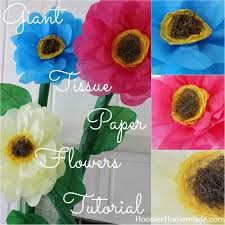 tissue paper flowers printable instructions how to make giant tissue paper flowers hoosier homemade