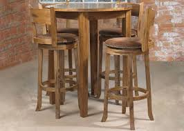 round bar table and stools kitchen dining sets mark webster cordoba round pub table 4 high