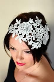 lace headband lace headband ivory headwrap wedding bridal hair band vintage