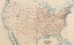 Washington State Road Map by The Lost U S Highways Of Southern California History Kcet