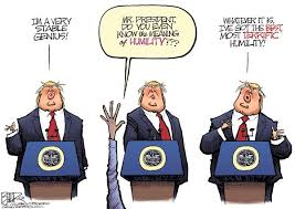 a stable genius and humble too political cartoons daily news