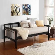 dhp manila daybed with twin size trundle black trundle dhp