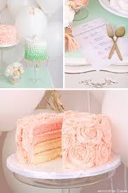 peach ombre wedding cake fresh feminine cake table
